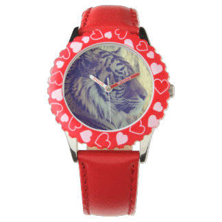 Tiger Face Aside Special Light Effect Vintage Wrist Watches