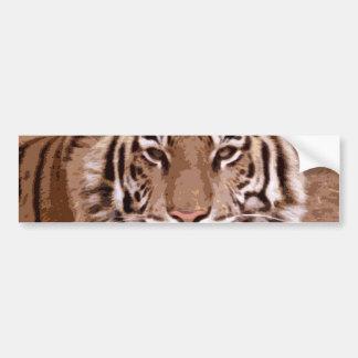 Tiger Face Bumper Sticker