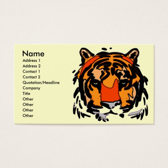 Tiger Face Business Card