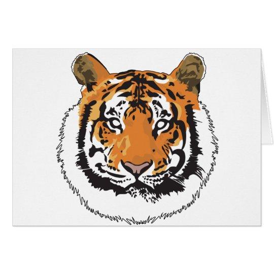 Tiger Face Card