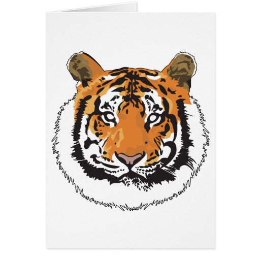 Tiger Face Cards