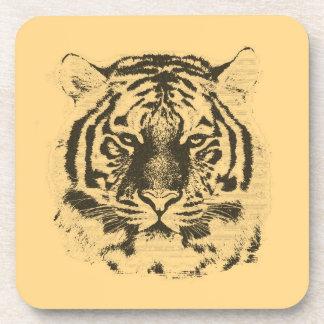 Tiger Face Close-Up 2 Drink Coaster