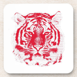 Tiger Face Close-Up 4 Coaster