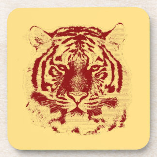 Tiger Face Close-Up 6 Coaster