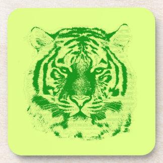 Tiger Face Close-Up Drink Coaster