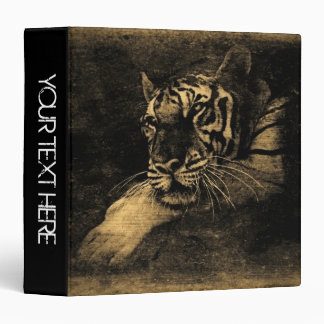 Tiger Face Close-Up | Personalized Binders 7