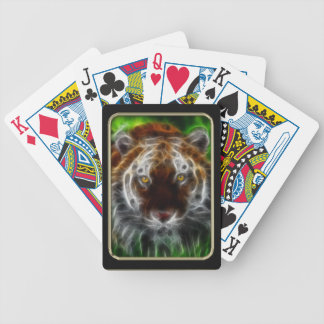 Tiger Face Fractal Art Playing Cards