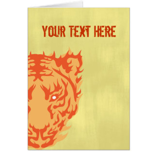 Tiger Face Greeting Cards