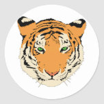 Tiger Face/Head Classic Round Sticker