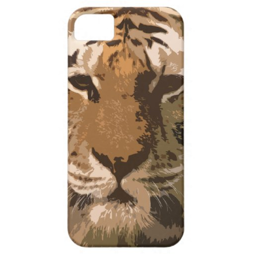Tiger face iphone5 case iPhone 5 covers