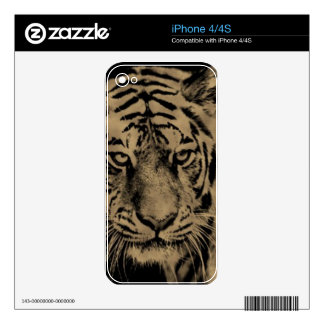 Tiger face iPhone 4 skin