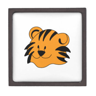 Tiger Face Keepsake Box