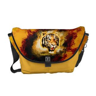 Tiger face messenger bag