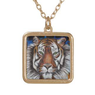 Tiger Face Necklace