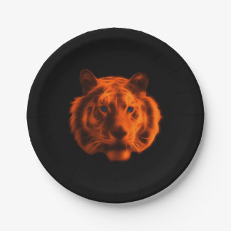 Tiger Face Paper Plate