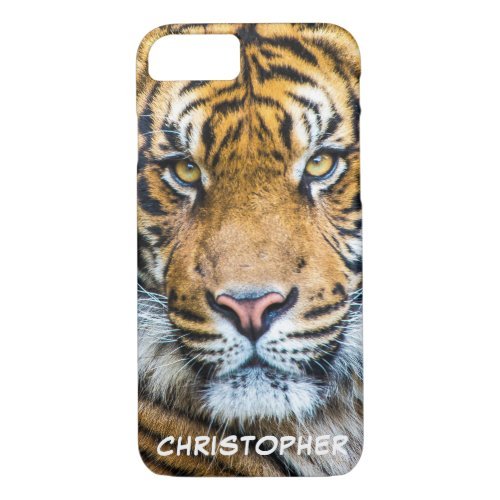 Tiger Face Personalized Name Phone Case