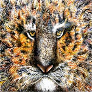 Tiger Face Photo Sculpture