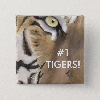 Tiger Face Pinback Button