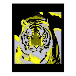 Tiger Face Pop Art Postcard