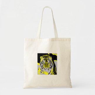 Tiger Face Pop Art Tote Bag