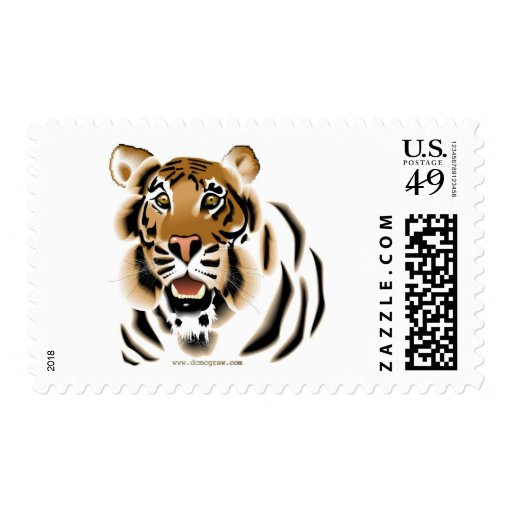Tiger Face Postage
