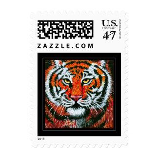 Tiger face postage stamp