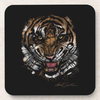 Tiger Face (Signature Design) Beverage Coaster