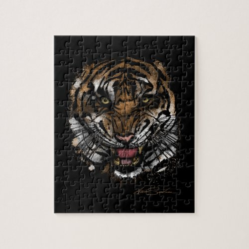 ... Tiger Face (Signature Design) Jigsaw Puzzles ...