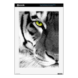 Tiger face - white tiger - eyes tiger - tiger decal for the PS3