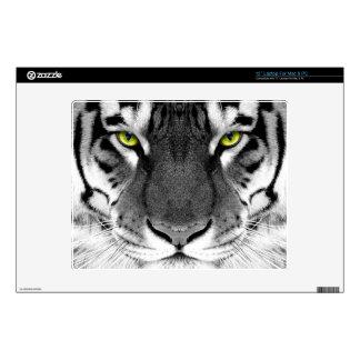 """Tiger face - white tiger - eyes tiger - tiger skins for 12"""" laptops"""