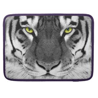 Tiger face - white tiger - eyes tiger - tiger sleeve for MacBook pro