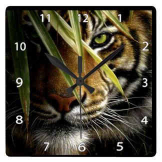 Tiger Face Wildlife Clock