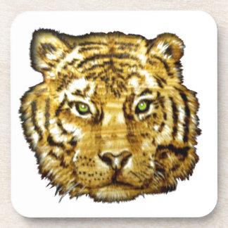 tiger face wood transparent.png drink coaster