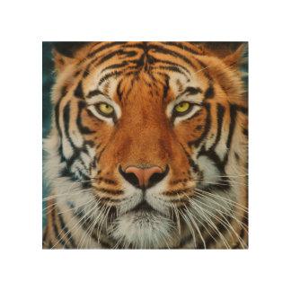 Tiger Face Wood Wall Decor