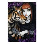 Tiger Fae Soul Mates Fantasy Flower Sam Lilah Card