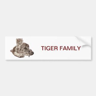 Tiger Family Bumper Sticker
