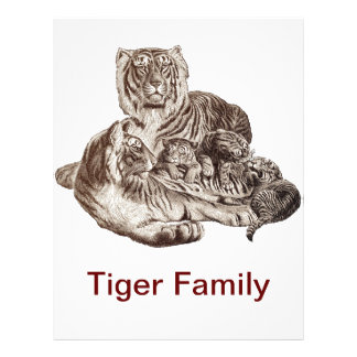 Tiger Family Letterhead Template