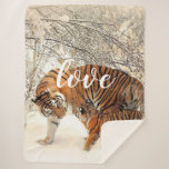 Tiger Family Sherpa Blanket