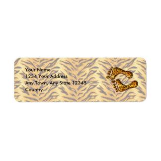 Tiger Feet Label