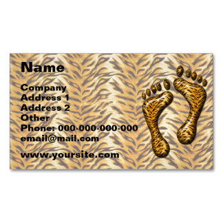 Tiger Feet Magnetic Business Card