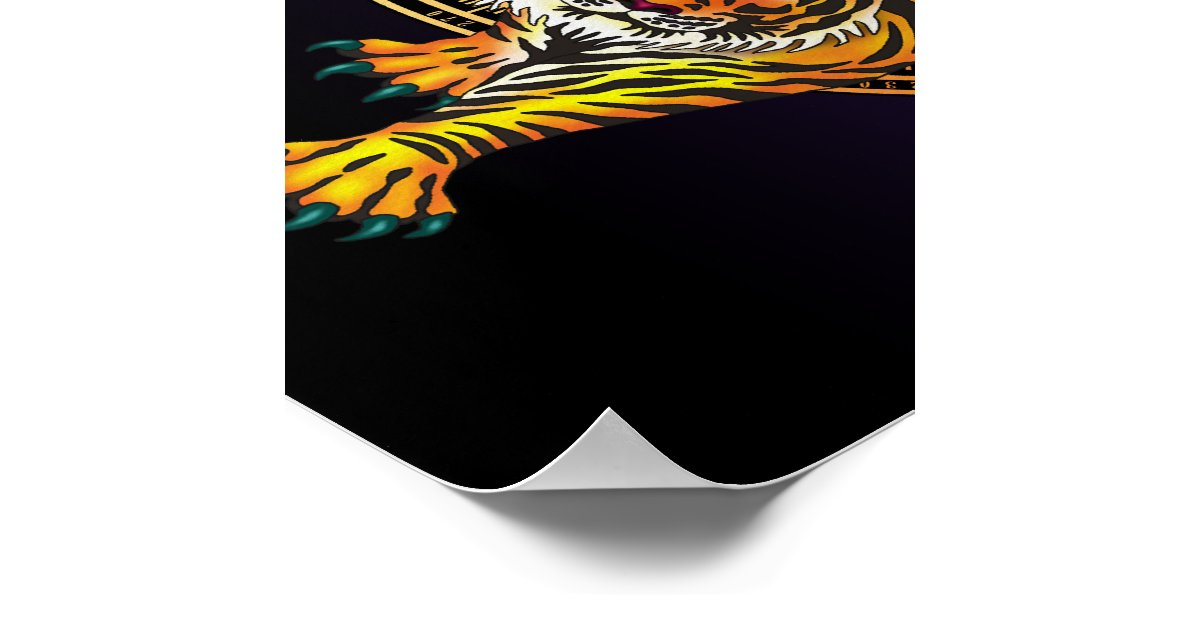 Tiger feng shui poster zazzle for Posters feng shui