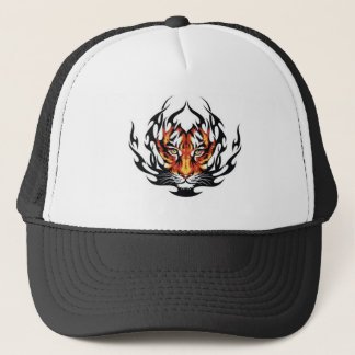 Tiger Fire Trucker Hat
