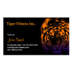 Tiger Fitness/Workout dark business card