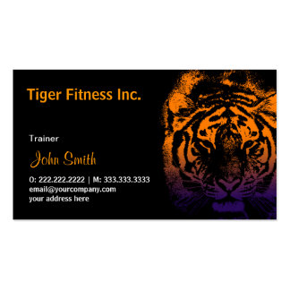 Tiger Fitness/Workout dark business card