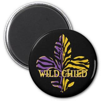 Tiger Fleur de lis Gifts 2 Inch Round Magnet
