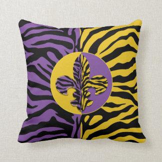 Tiger Fleur de lis Throw Pillow