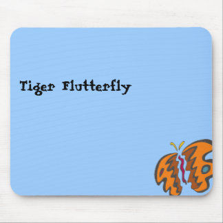 Tiger Flutterfly Mouse Pad
