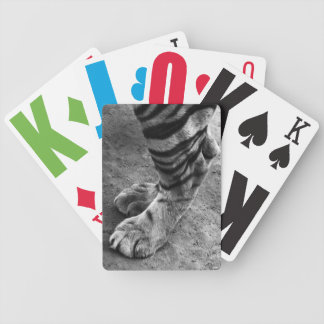 Tiger Foot Black and White Photograph Bicycle Playing Cards