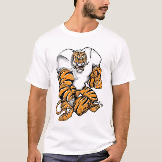 tiger football design T-Shirt