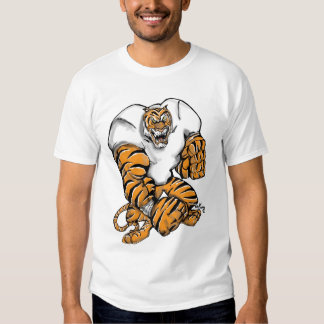 tiger football design tees